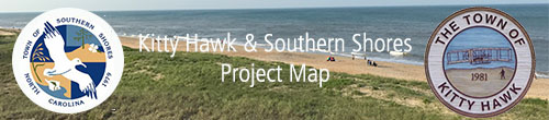 Southern Shores Kitty Hawk Project Map