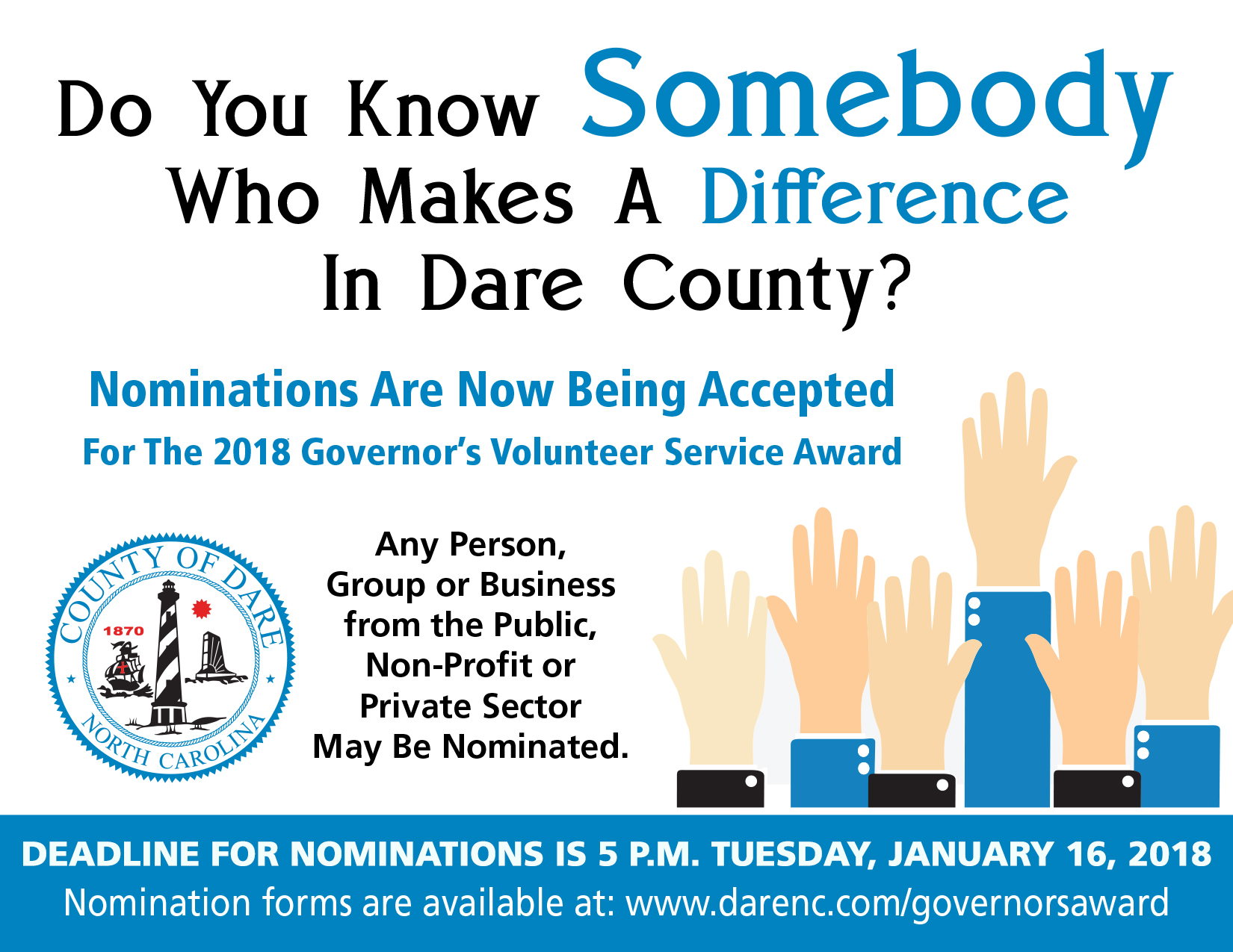 Flyer for 2018 Governors Award Nominations