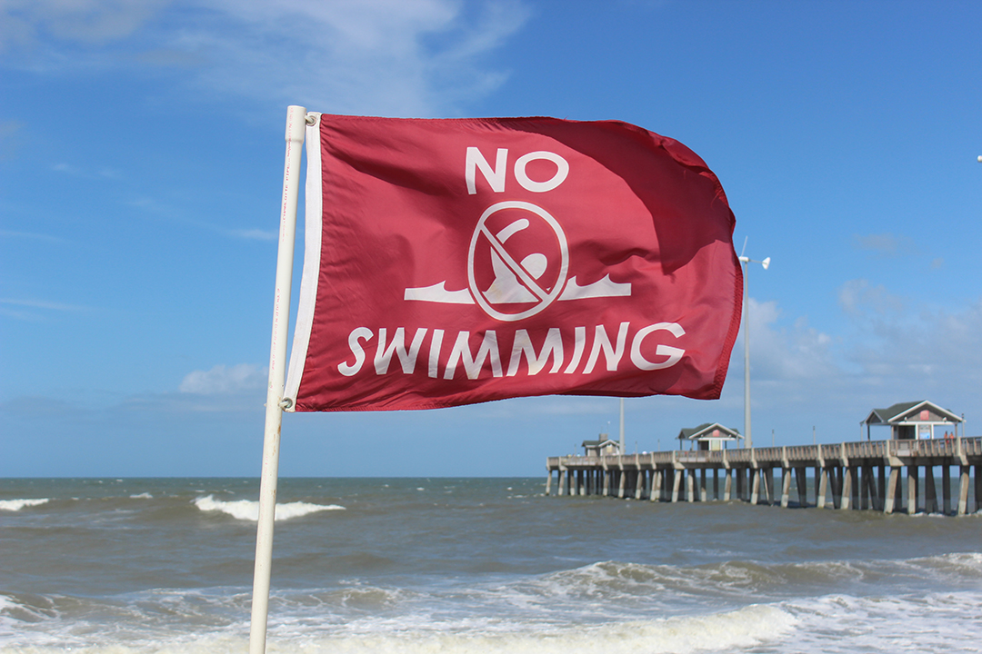 Red No Swimming Flag