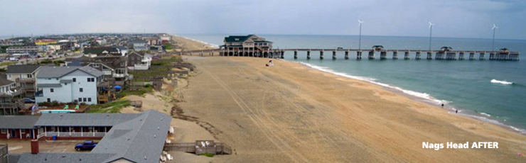 Nags Head After Beach Nourishment