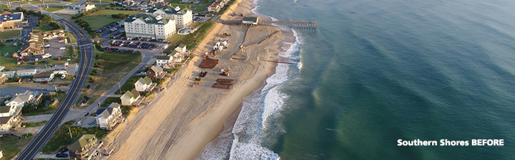 Southern Shores Before Beach Nourishment