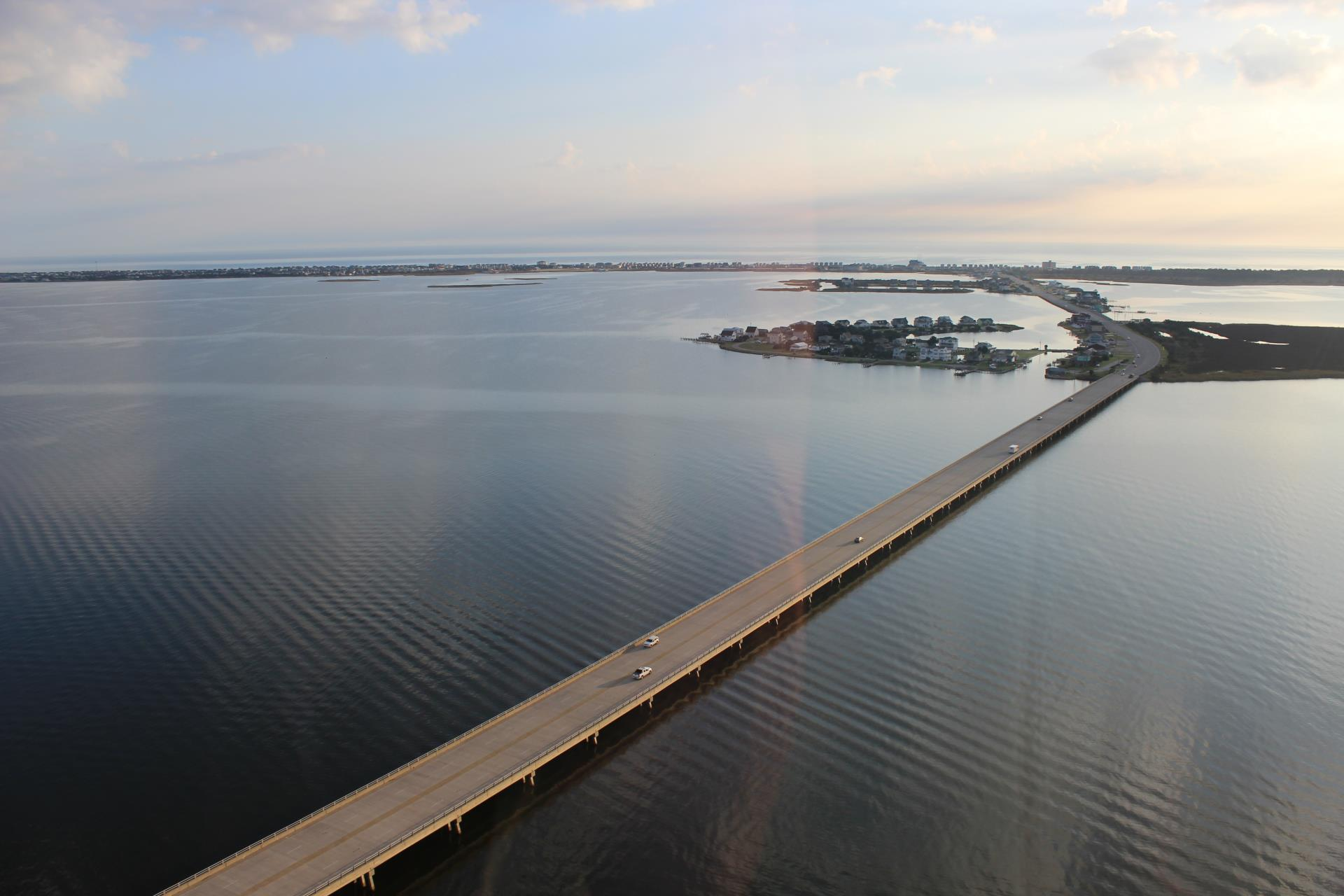 The Washington Baum Bridge Connecting Roanoke Island to the Northern Beaches